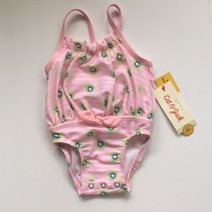 NWT Cat & Jack swimsuit baby girls sz 3-6 mos pink
